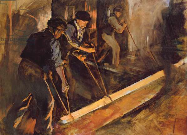 Forging Steel, The Steel Mills (oil on canvas)