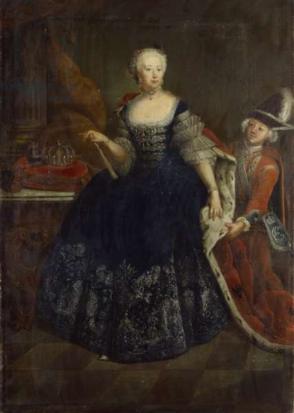 Elisabeth Christine von Braunschweig as Queen (oil on canvas)