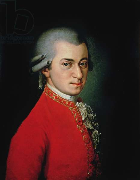 Wolfgang Amadeus Mozart, 1818 (oil on canvas)