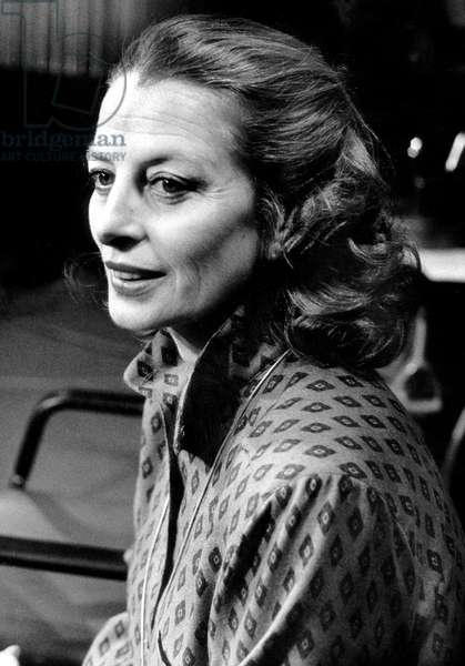 Actress Capucine on TV Programme February 01, 1980 (b/w photo)