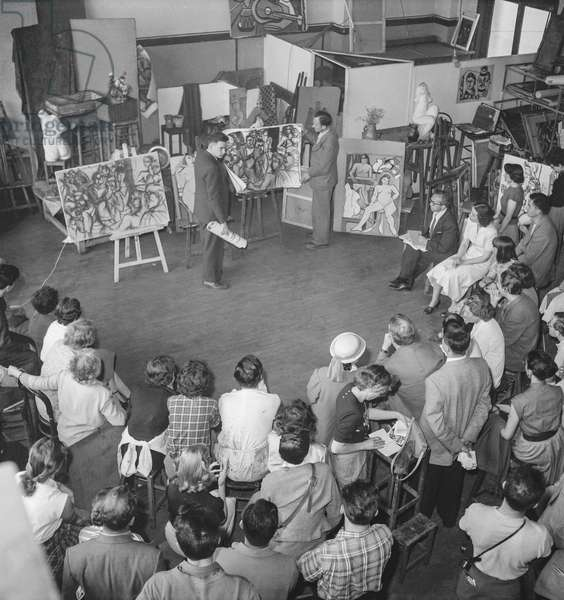 Academy of painting, Paris, June 22, 1951 (b/w photo)