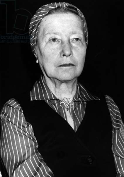 Simone De Beauvoir, June 12, 1978 (b/w photo)