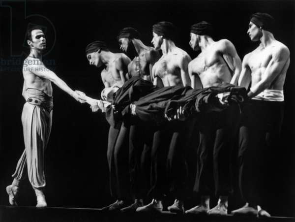 Ballet Rite of Spring By Maurice Bejart Danced By Lausanne Ballet February 25, 1992 (b/w photo)