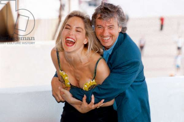 Director Paul Verhoeven and Sharon Stone at Cannes Film Festival For Film