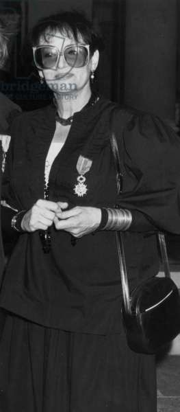 The French Singer Barbara (1930-1997) Born Nee Monique Andree Serf, Received The Legion of Honour. (b/w photo)