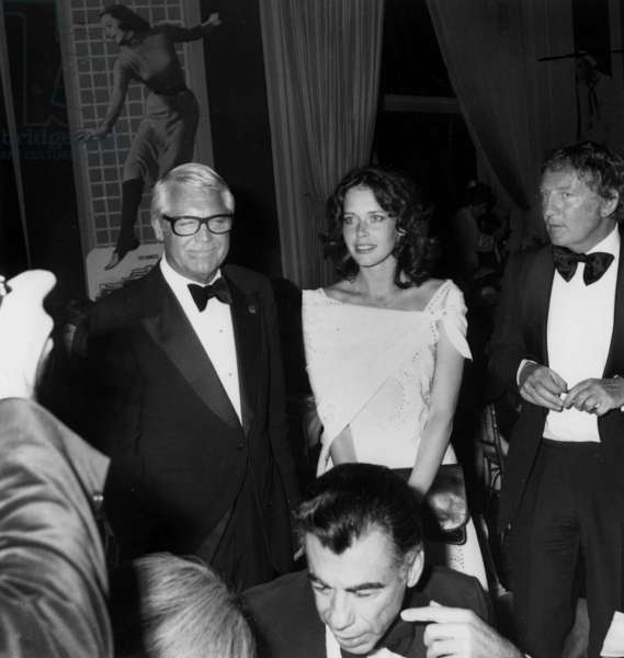 Sylvia Kristel With her Husband and Cary Grant during A Gala For Film