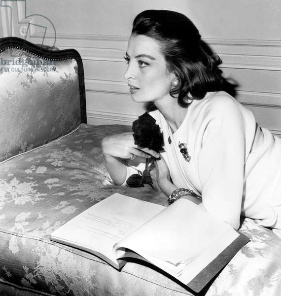 French Actress Capucine Back in France For Film Michelstrogoff July 16, 1961 (b/w photo)