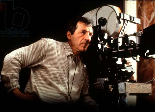 Director Costa Gavras on Set of Film Music Box 1989 Camera (photo)