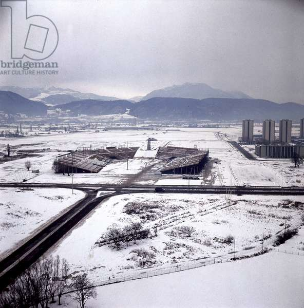 View of Grenoble (France) during Winter Olympic Games in February 1968 (photo)