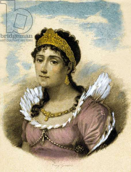 Josephine de Beauharnais (1763-1814) French empress, 1st wife of Napoleon 1st, engraving