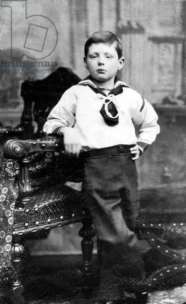 Winston Churchill (1874-1965) here as a child c. 1881