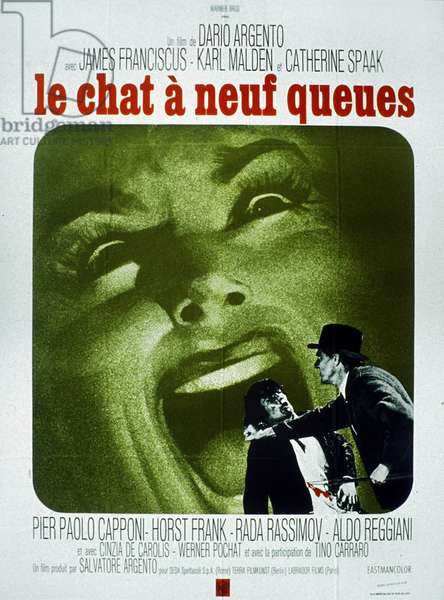 Le chat a neuf queues de Dario Argento avec James Franciscus et Catherine Spaak 1971
