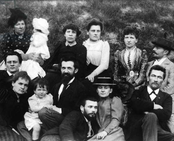 Marie Curie (l, 1867-1934) with her family c. 1885