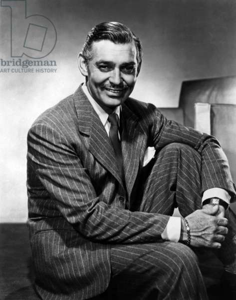 American Actor Clark Gable (1901-1960) c. 1940 (Tank Cartier watch)