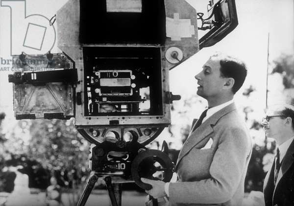 Director Jacques Feyder (1885-1948) on set of a film
