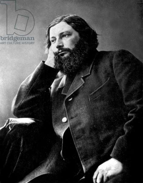 French painter Gustave Courbet (1819-1877) photographed by Nadar, c.1866