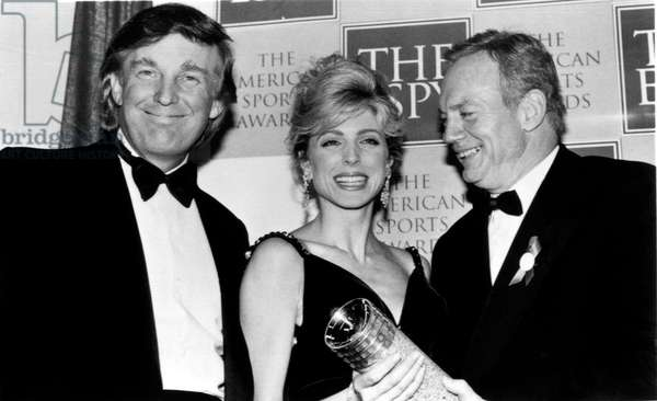 Donald Trump with his wife Marla Marples and Jerry Jones at American Sports Awards ceremony