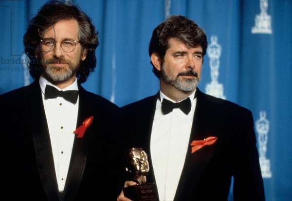 Steven Spielberg and Georges Lucas at Academy Awards 1992