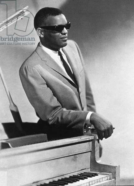 American jazz pianist Ray Charles (1930-2004) in 1956