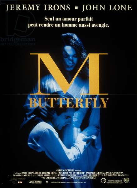 Poster of the film M. Butterfly by David Cronenberg with Jeremy Irons, 1993.