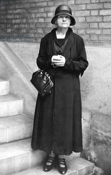 Marie Curie (1867-1934) French physicist here in 1929 the year of her travel in United States when she met HerbertClarkHoover