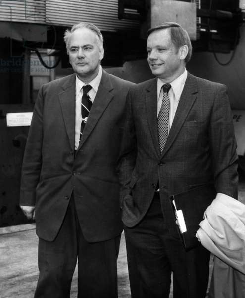Neil Armstrong et Patrick Moore