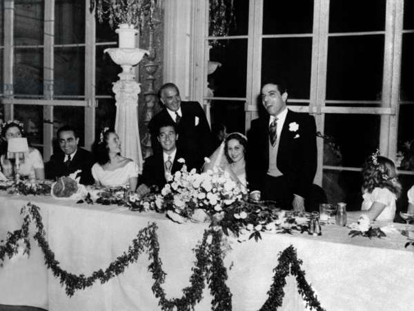 Aristotle Onassis (1902-1975) For his Wedding With Athina (Tina) Livanos December 28, 1946 (b/w photo)