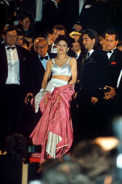 Madonna (Wearing Jean Paul Gaultier Dress) at Cannes Film Festival For Film