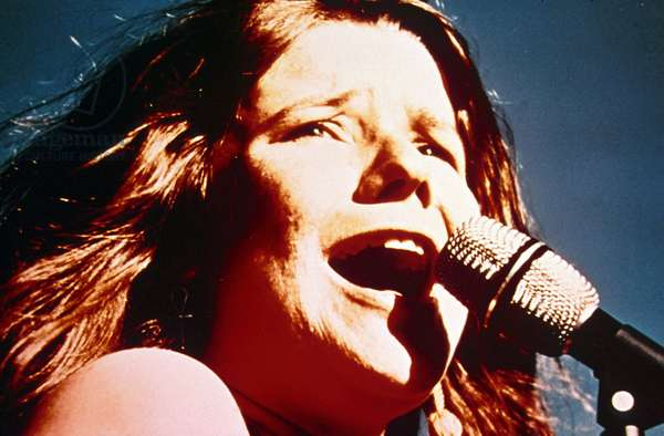 Singer Janis Joplin on Stage Late 60'S  (photo)