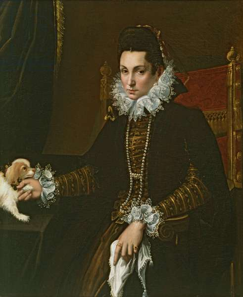 Portrait of Ginevra Aldrovandi Hercolani as a Widow, late 1590s (oil on canvas)