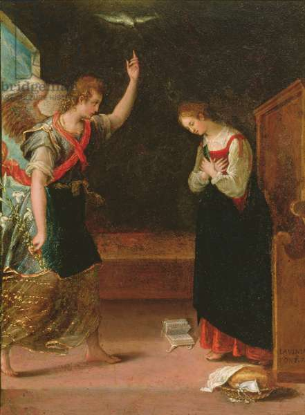 Annunciation (oil on copper)