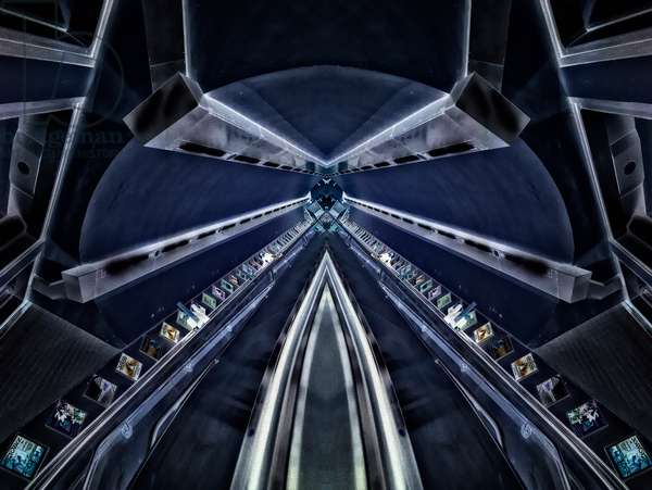 Blue Tunnel, 2014 (digital image)