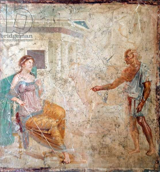 Daedalus and Pasiphae, from the House of Vettii, Pompeii (fresco)