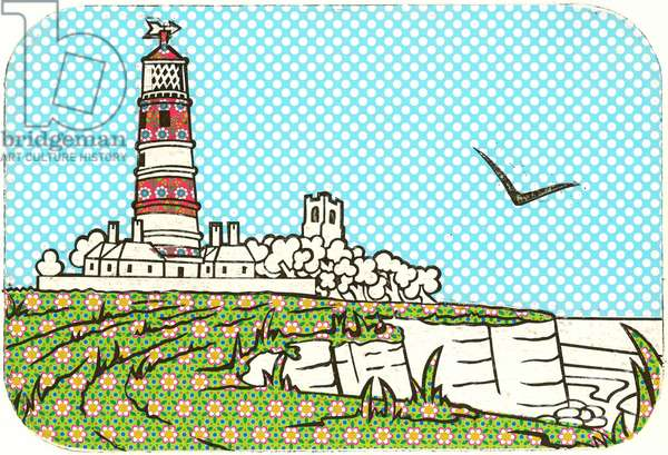 Happisburgh Lighthouse (Flowering Berry), 2015, Collagraph