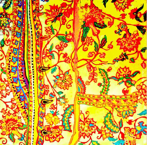 Man's shirt embroidered India